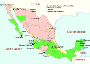Mexico safety map