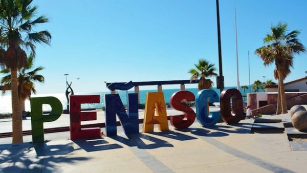Is Puerto Peñasco safe beach side sign